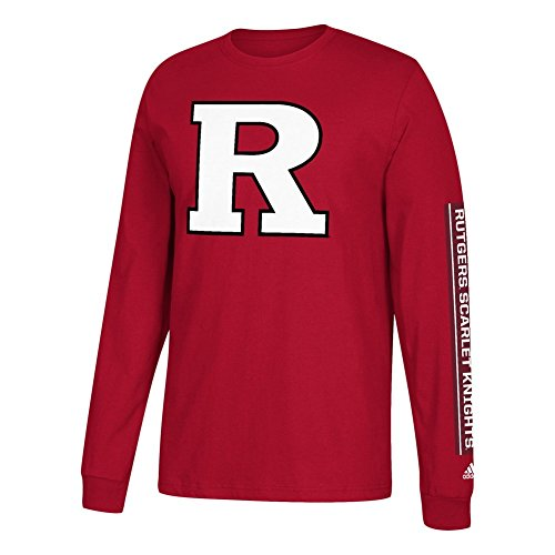 adidas Rutgers Scarlet Knights NCAA Left Text Men's Long Sleeve ()
