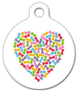 Heart Of Bones – Custom Pet ID Tag for Dogs and Cats – Dog Tag Art – LARGE SIZE, My Pet Supplies