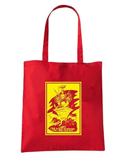 T-Shirtshock - Bolsa para la compra T0860 leone san marco militari Rojo