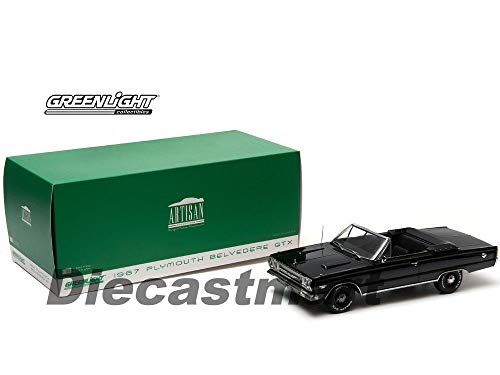 1967 Plymouth Belvedere GTX Convertible Black 1:18 DIECAST CAR 19007 -