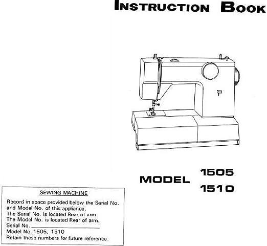 Descargar Pdf-File Singer W1510 Máquina de coser: Amazon.es: Hogar