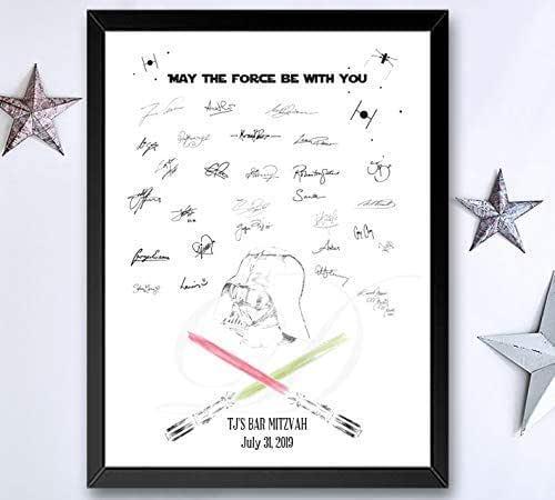 Star Wars Wedding Black and White Wedding Guest Pen Star Wars Darth Vader Wedding Guest Pen Sci fi Wedding Fantasy Wedding