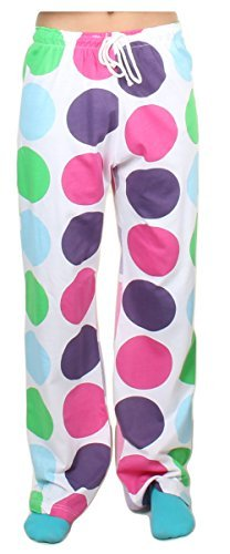 Gilbins Unisex Youth 100% Knit Jersey Cotton Drawstring Lounge Pajama Pants (Small/Medium 10-14, Dots)