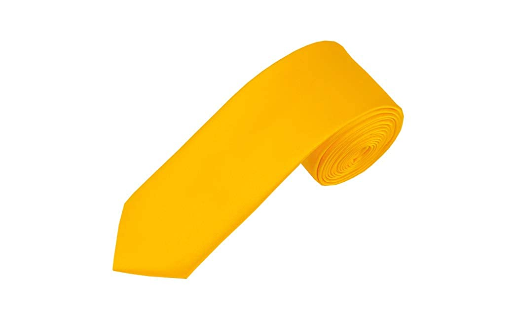 Solid Golden Yellow Boys Necktie