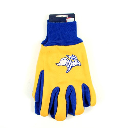 Tone Two Rabbit (NCAA South Dakota State Jackrabbits Two-Tone Gloves, Yellow/Blue)