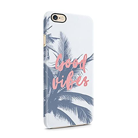 Good Vibes Tropical Palm Plastic Phone Snap On Back Cover Shell For iPhone 6 Plus & iPhone 6s Plus (Snap On Cell Phone Cases)