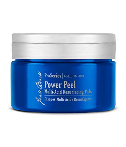 JACK BLACK – Power Peel Multi-Acid Resurfacing Pads – ProSeries Age Control, with UGL Complex and Niacinamide, Exfoliates, Resurfaces and Helps Firm and Brighten Skin, 40 Count (Shave Lube Beard Conditioning)