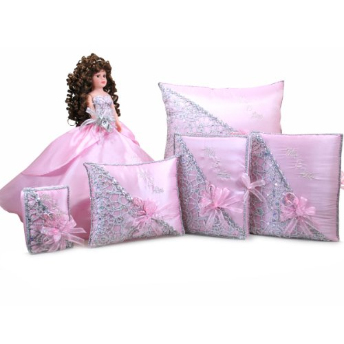 Quinceanera Birthday Doll with Photo Album Guest Book Bible Complete Set Q1028 (Basic Set + Spanish Bible)