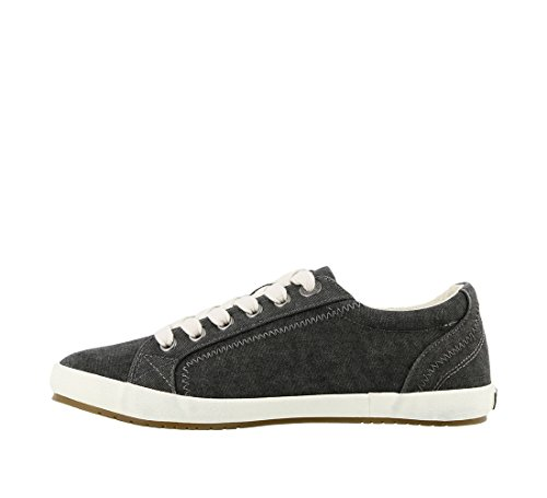 Taos Footwear Damen Star Fashion Sneaker Charcoal Washed Canvas