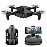 Potensic Wings, Foldable Mini Drone for Kids with Camera, Optical Flow Positioning Wi-Fi Quadcopter with 120° Wide-Angle Shot -Flight Route Setting, Altitude Hold, One Key Take Off