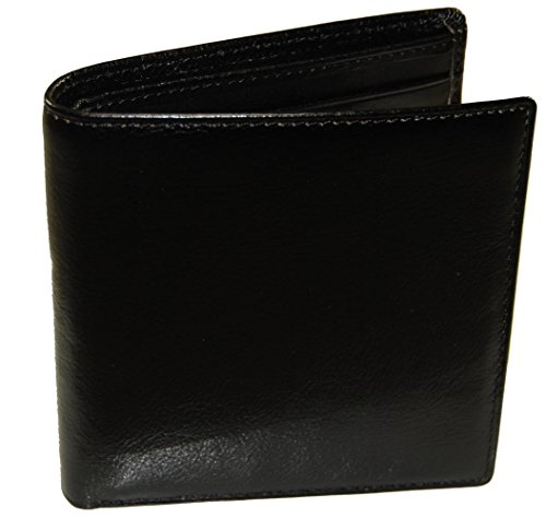 Castello Italian Leather Hipster Wallet with RFID Security (black) ()