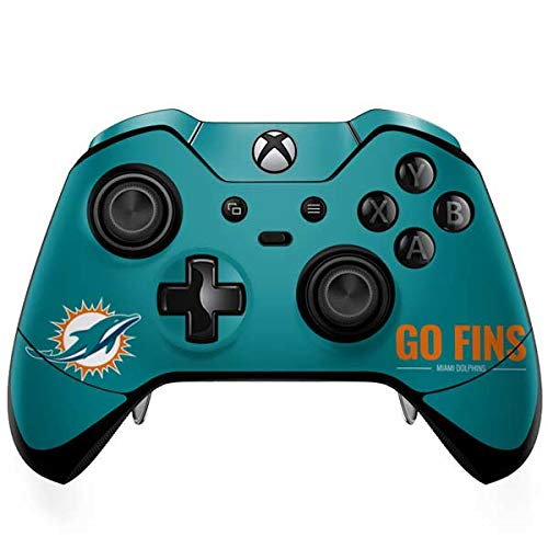 Skinit Miami Dolphins Team Motto Xbox One Elite Controller Skin - Officially Licensed NFL Gaming Decal - Ultra Thin, Lightweight Vinyl Decal Protection