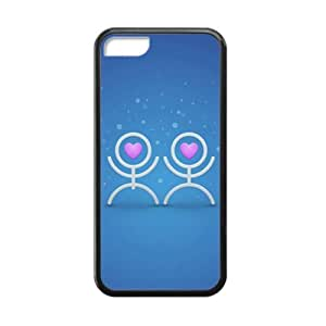 cute lover heart blue background personalized high quality cell phone case for ipod touch4