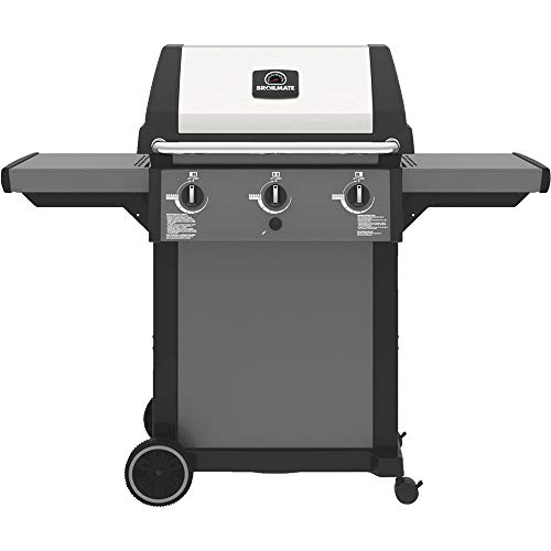 Grill Stainless Pedestal Charcoal (Broil-Mate 196454 Gas Grill,3 Burners, 400 sq-in Primary Cooking Area, 7 in Wheels)