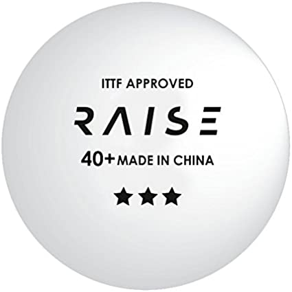 Pelotas de Tenis de Mesa RAISE 3 estrellas 40+ ITTF blancas, pack ...