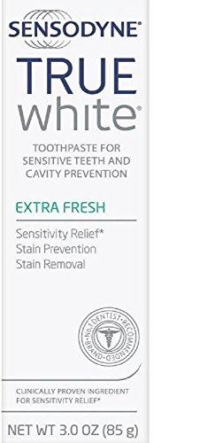 Sensodyne True White Extra Fresh Toothpaste 3 oz (Pack of 3)