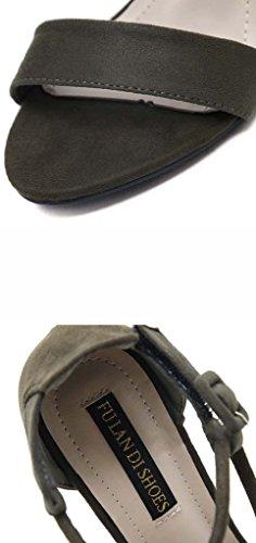 SHEO sandalias de tacón alto Una palabra con sandalias de tacón alto de ganchillo con dedo del pie muy bien con sandalias femeninas Negro