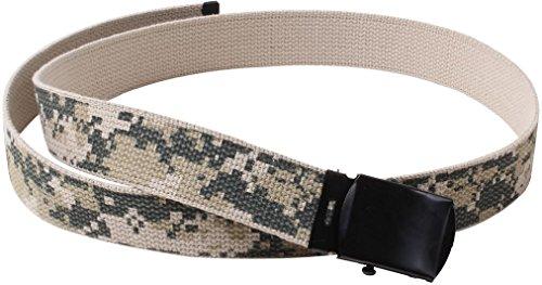 Kids ACU Digital Camouflage Reversible Cotton Military Web Belt - 34