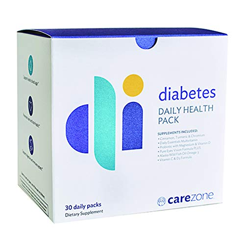 CareZone Diabetes Daily Health Vitamin & Supplement Packs - Support for Optimal Health and Nutrition, 30 Count