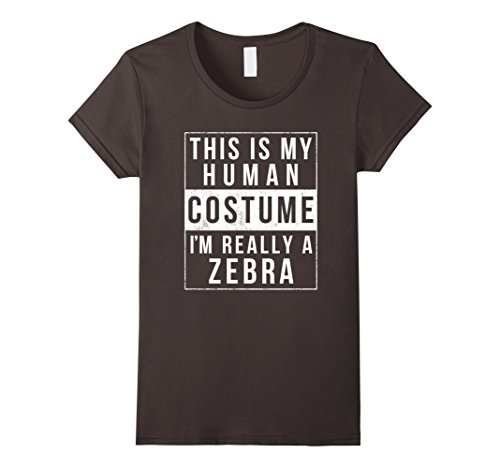 Womens Zebra Halloween Costume Shirt Funny Easy for Kids ...