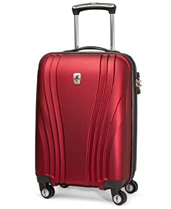 Atlantic Luggage Lumina 20 Inch Exp. Hardside Spinner, Ruby Red, One Size