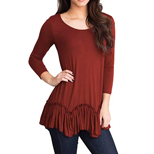 V Chemisier Top Dcontract Manches Bordeaux Col Femme Courtes Solid DAYLIN 47fqw7X