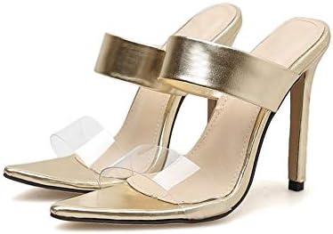3d30c11bcd3 LindarryAE Heeled Sandals for Women Slides Slip-on 11.5cm Stiletto ...
