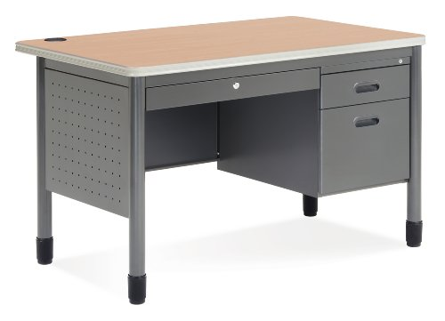 (OFM Mesa Series Teachers Desk with Laminate Top - Durable Locking Utility Desk, 30