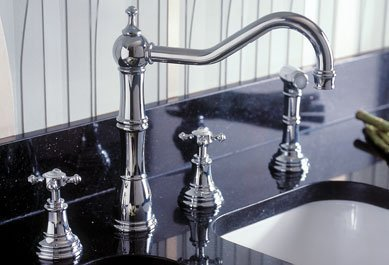 Rowe 4 Hole Kitchen - Rohl U.4775X-APC, Rohl Kitchen Faucets, 4-Hole Kitchen Faucet With Sidespra - Polished Chrome