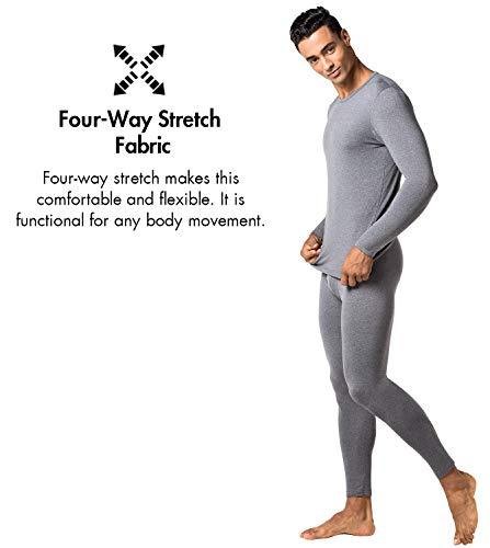 Set Scuro T Intimo Senza Lapasa Pantaloni Termico Stress Grigio Maniche Lunghe M11 Lightweight Ti Al Uomo Invernali shirt Tiene Caldo amp; RfAAx5w