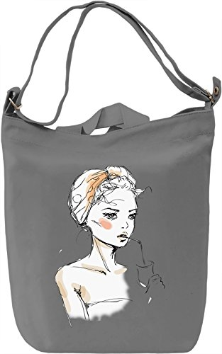 Girl With The Milkshake Borsa Giornaliera Canvas Canvas Day Bag| 100% Premium Cotton Canvas| DTG Printing|