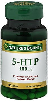 Nature's Bounty 5-HTP 100 mg Dietary Supplement Capsules - 60 ct, Pack of 6