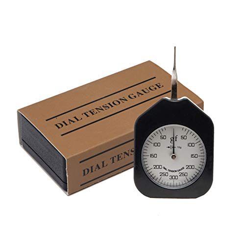Beslands ATG-300-1 Dial Tension Meter Tester Gauge Handheld Single Needle Gram Force Gauge with Max Measuring Value 300g (Black)