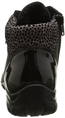 Rieker L46, Sneakers Hautes Femme, Noir (Schwarz/Schwarz/Grau/01), 41 EU