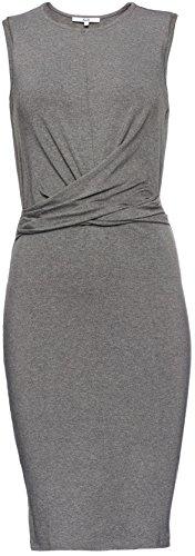 FIND Vestido Elegante Drapeado sin Mangas para Mujer Gris (Grey Marl)