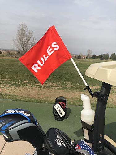(Caddie Buddy Rules Golf Cart Flag Holder/Mount (Rules)