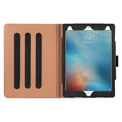 iPad Pro 9.7'' Case, JAMMYLIZARD The Original Black & Tan Leather Smart Cover by JAMMYLIZARD (Image #6)