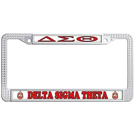 Amazon.com: Dasokao DELTA SIGMA THETA Cute Auto Car License Plate ...
