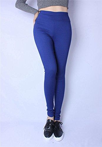 lastiques Pantalons Haute Leggings Jeans Casual Femmes Blue Royal Krastal Denim Taille Stretch Plus Nzmkd zwqdSv6