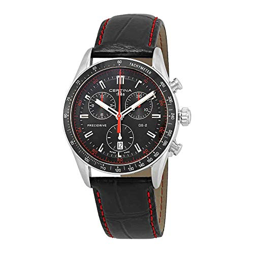 Certina - Wristwatch, Quartz Chronograph, Leather, Men