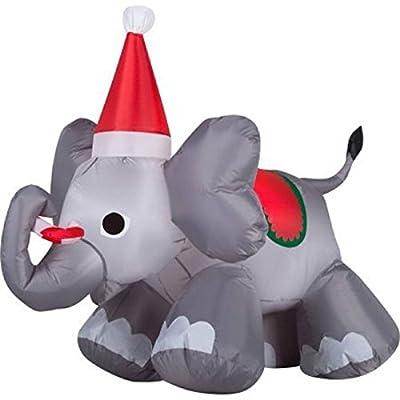 Gemmy Airblown Inflatable Christmas Elephant, 4' (1)