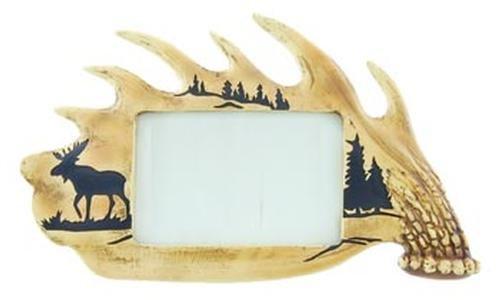 Moose on Antler Photo Frame 11.5-inch, ()