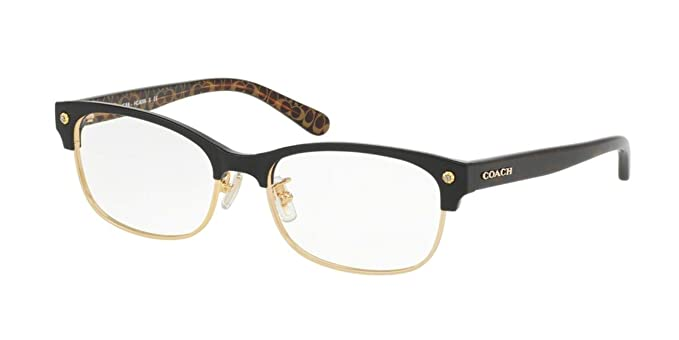 ace379dc7e7 Coach Women s HC6098 Eyeglasses Black Gold Dark Tort Gold Sig 53mm ...