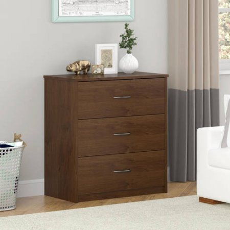 Mainstays 5403026PCOM 3-Easy Glide Drawer Dresser, Wooden Material, Northfield Alder Color Finish by Mainstay