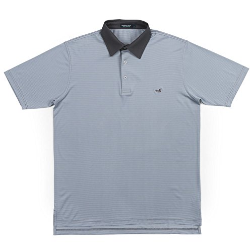 (Southern Marsh Men's Bermuda Polo-Hawthorne Light Blue/Gray M)