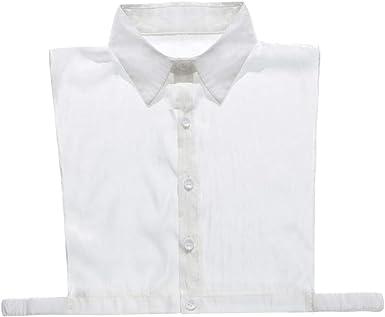 IPOTCH Cuello Falso de Algodón Collar Babero Media Camisa ...