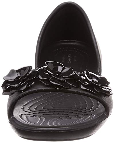 Dorsay black Crocs On Flower Women's Black Size Slip 3 Lina 3 q0w04XS