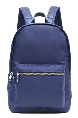 Square Big Laptop Tablet Book Canvas Rucksack Bag (Blue) - 5