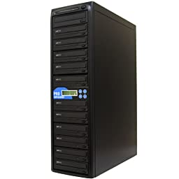 Produplicator Samsung 24X 1 to 11 CD DVD Duplicator (with Nero Essentials Burning Software) - Standalone Disc Duplication Tower