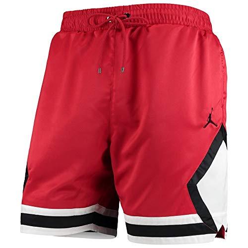 Nike Air Jordan Satin Mens Diamond Basketball Shorts Red Size Large AO2820-687 ()